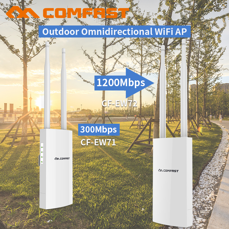 Outdoor Router 300/1200Mbps Dual-Band 2.4G/5G Omnidirect Antenna Extender Wireless WiFi Repeater Access Point wi fi Amplifer AP outdoor powerful 1300mbps gigabit weatherproof repeater wifi extender access point router wisp antenna directional wi fi ap