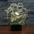 3D Оптическая иллюзия настольная лампа/3D Оптическая иллюзия ночник  7 цветов Светодиодная 3D лампа  Marvel Comics 3D LED для детей и взрослых