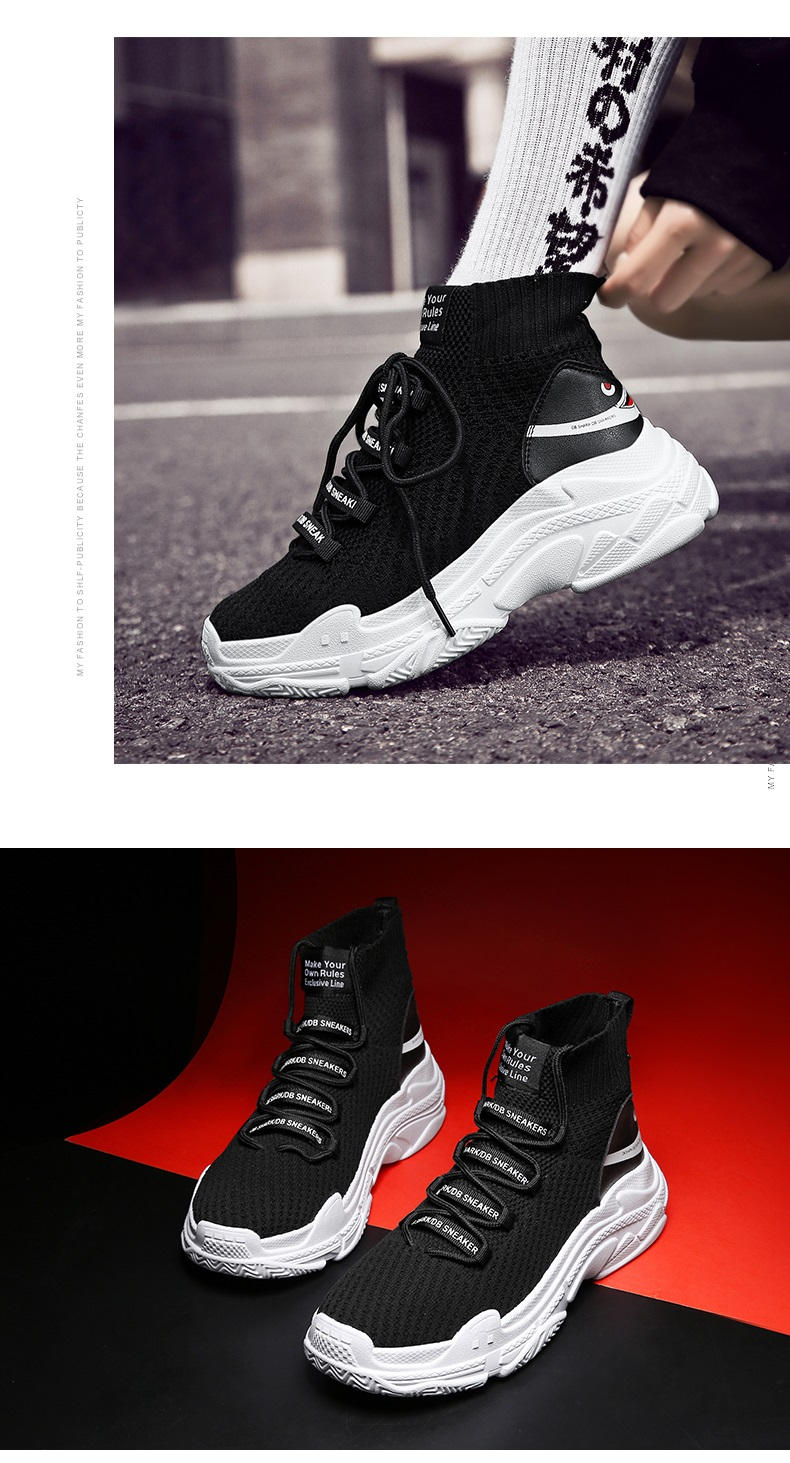 HTB161WLXNv1gK0jSZFFq6z0sXXaT Sneakers Men Shoes For Male Sharks Trainers Lovers High Top Footwear Sapatos Masculino Summer Breathable Chaussures Pour Hommes