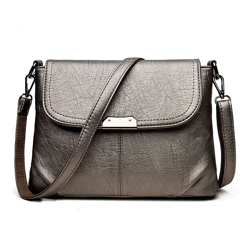 Fashion Women's Genuine Leather Messenger Bag Vintage Women Totes Bags Female Shoulder Messenger Crossbody Bags Bolsas Femininas