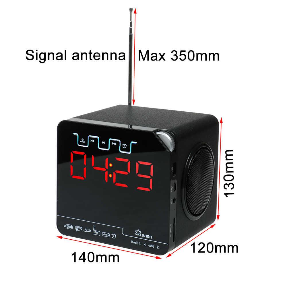 Enceinte Dbigness Portabel Bluetooth Speaker Super Bass Speaker Nirkabel untuk PC Dukungan TF FM Jam Alarm dengan LED Waktu Tampilan
