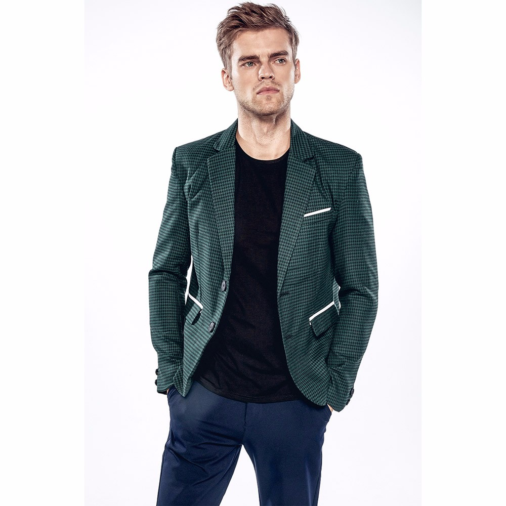 snowshine YLW Charm Men's Casual Slim Two Button Fit Suit Blazer Coat Lattice Jacket Tops freeshipping