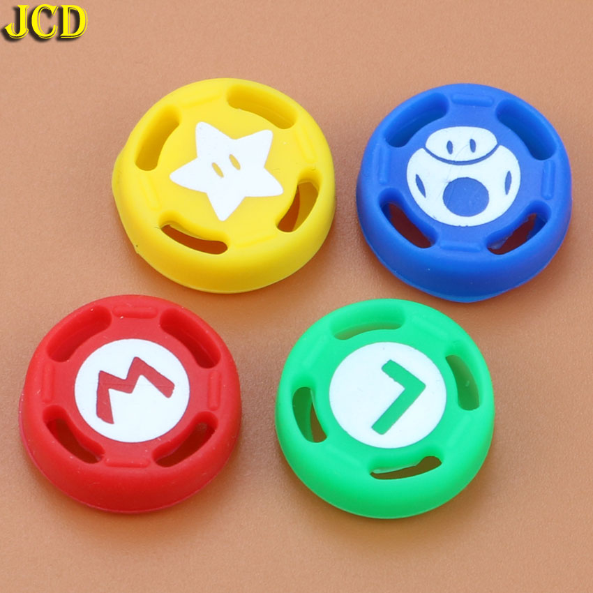 Image 2 - JCD 2pcs Silicone Analog Joystick Stick Grips Caps For Nintend Switch NS JoyCon Controller Joystick Cover for Joy Con-in Replacement Parts & Accessories from Consumer Electronics