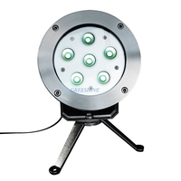 316 Stainless Steel 18W Underwater LED Light For Fountain DC24V Pond Light RGB White IP68 Waterproof