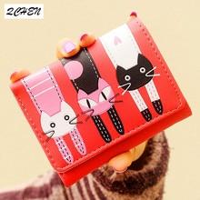 купить Woman's wallet  Small Fashion Brand Leather Purse Ladies Card Bag For Women 2018 Clutch girl Female Purse Money Clip Wallet 309 по цене 427.26 рублей