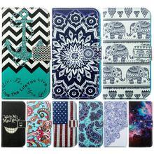 Fashion Cover Case For Nokia Lumia 635 N635 630 N630 730 N730 Elephant Chimes Sunflower Leather Wallet Flip Phone Fundas P23Z