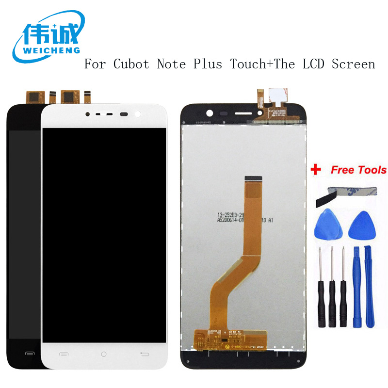 WEICHENG Top Quality For Cubot Note Plus LCD Display+Touch Screen Digitizer Assembly Replacement Accessories +Free Tools
