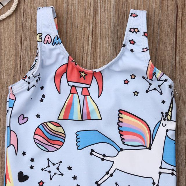 0-5T Kids One-piece Swimsuit Toddler Kids Baby Girls Cartoon Bikini Swimwear Swimsuits Bathing Suit Beachwear 15