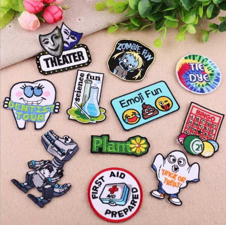 Home & Garden Fine 10 Pcs Embroidered Patches English Words Badges Iron On Cartoon Motif Applique Kids Adult Clothing Hat Bag Shoe Diy Accessory Apparel Sewing & Fabric
