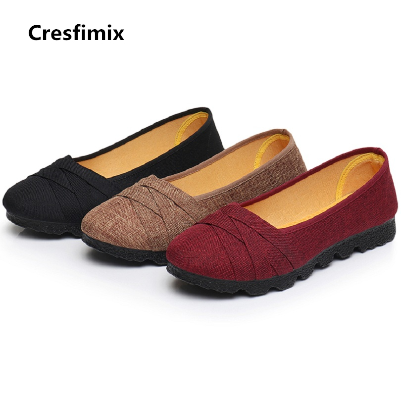 Cresfimix sapatos femininas women cute spring & summer round tow anti skid flat shoes female black comfortable shoes lady shoes cresfimix women cute spring
