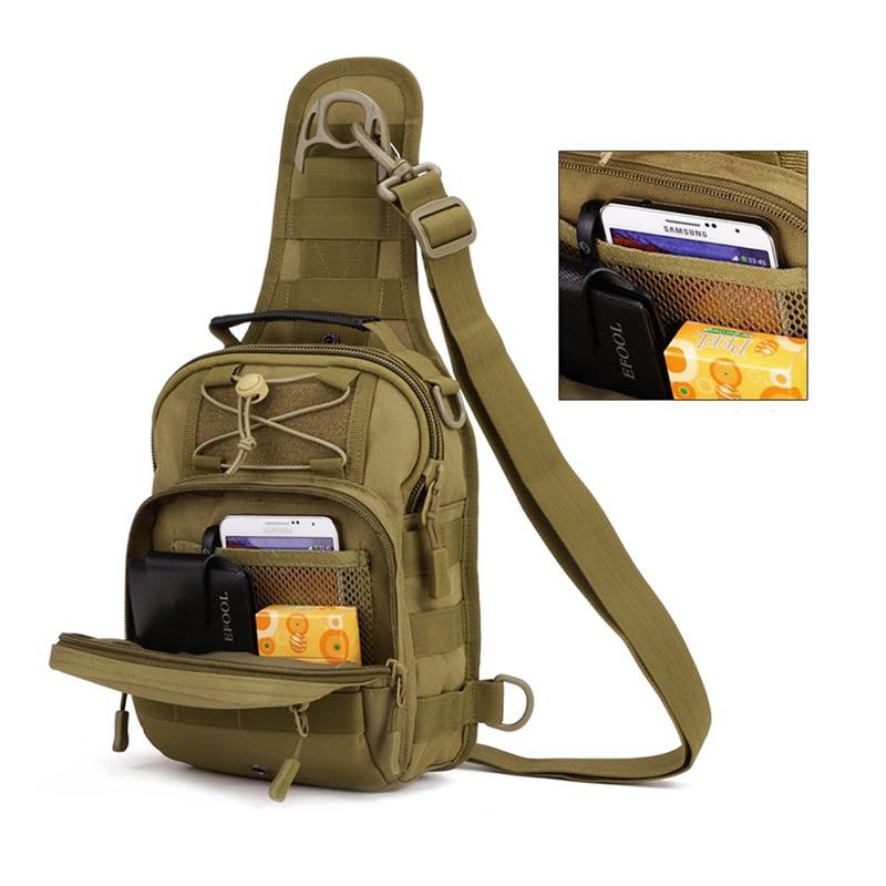 Prix pour Unisexe Adultes Nylon Oxford Tissu Multifonctionnel Poitrine Épaule Satchel Sac Tactique Sling Pack Camping Épaule Pack J2