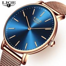 LIGE Watch Ultra Thin Quartz Gold LIGE9895