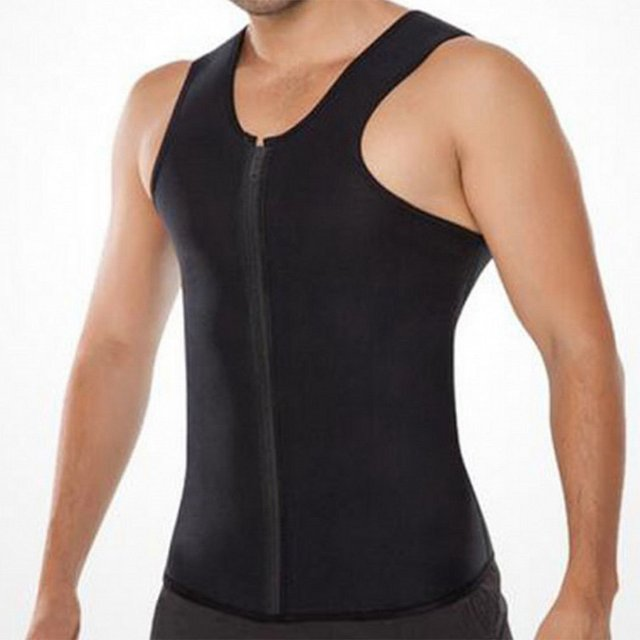 Rubber Men's Sports Belt Corset Vest Mens Body Shapers Vest Slimming Fitness Waist Tops Sweat Shapwear Shirts Plus Size S-4XL 2