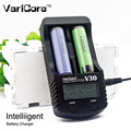 Nova varicore v-30 lcd carregador para 3.7 v 18650 26650 16340 18500 18350 baterias de lítio 1.2 v aa aaa nimh carregador de bateria