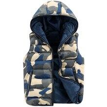 2016 neue Casual Camouflage Männer Weste Männer Baumwolle Hohe Qualität Weste Winter Outwear Warme Armee Lässig Military Camo Männer Weste