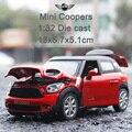 1:32 Scale Models Mimi Cooper alloy mocel sound & light Toy Model Cars for Kids Best Gift