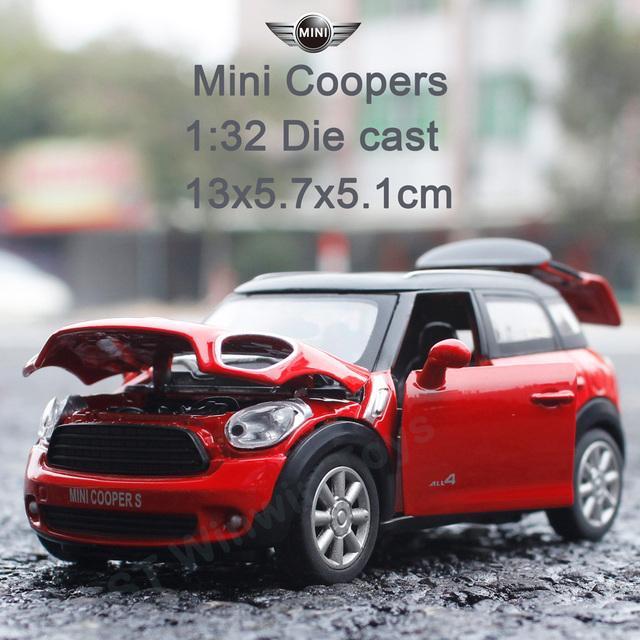 Modelos a Escala 1:32 Mimi Cooper aleación mocel luz y sonido Juguete Modelo de Los Coches para Los Niños El Mejor Regalo