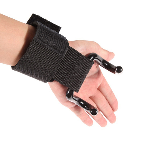 1 pcs Strong Pro Weight Lifting Training Sports Gym Hook Grip Strap Glove Wrist Support