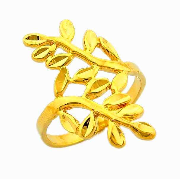 Nouveauté!! Mode 24K GP couleur or hommes et femmes bijoux bague en or jaune or anneau de doigt vente chaude YHDR001