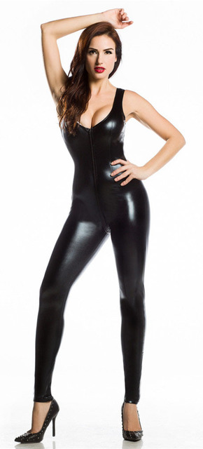 Novo 2016 Sexy roupas de couro preto Sexy mulheres de Lingerie jogo uniformes de couro preto trajes de tubos de aço