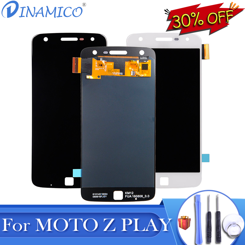 Dinamico Promotion For Moto Z Play <font><b>LCD</b></font> For Motorola Z Play Display <font><b>XT1635</b></font> <font><b>Lcd</b></font> With Touch Screen Digitizer Assembly With Tools image