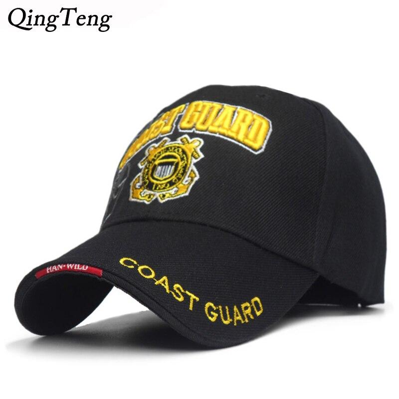 USA Coast Guard Army Men   Cap   Embroidery   Baseball     Cap   Snapback   Caps   Bone Casquette Hat For Men Wholesale Spring Cotton Gorras