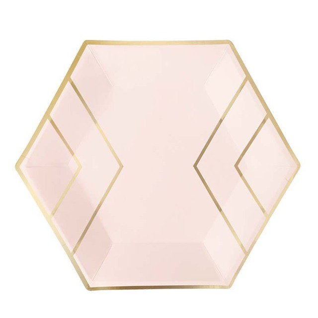 Gold Foil Diamond Pattern Wedding Party Paper Plates Pink Carnival Party Decor Supplies Tableware  sc 1 st  AliExpress.com & Gold Foil Diamond Pattern Wedding Party Paper Plates Pink Carnival ...