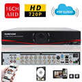 SUNCHAN 720P AHD DVR Home Security CCTV DVR 16channel ONVIF NVR for IP camera 3 in 1 Network Video Recorder Surveillance