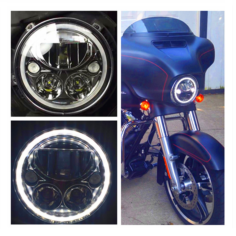 Hot sale! 7 inch round led headlight Halo 12V 24V car motorcycle led headlights Replace Vision X for car jee-p wrangler Harley free shipping 50w car lamps headlights 1 set h8 h9 h11 led headlights car 1set hot sale