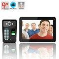 Бесплатная доставка! ENNIO 9 дюймов LCD 900TVL цветной Распознавание отпечатков пальцев Запись видео домофон непромокаемые ночное видение
