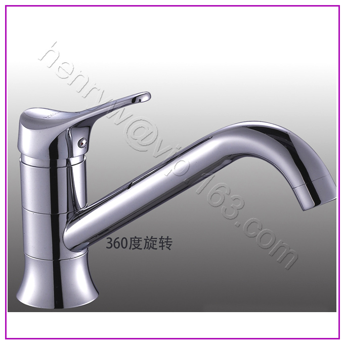 L16323 Luxury Deck Mounted Chrome Finish Brass Kitchen Faucet
