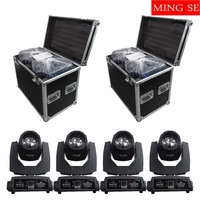 4pcs/lots 230w 7r Beam Light with flight case DMX512 control Moving Head Lights Professional Stage Party Stage Lighting Effect