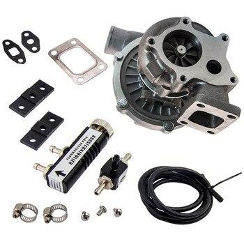 T04E T3/T4 .63 AR 50 Trim Turbo/turboşarj + 1-30 PSI Boost denetleyici 30PSI manuel Boost Bypass ayarlanabilir T04E türbini