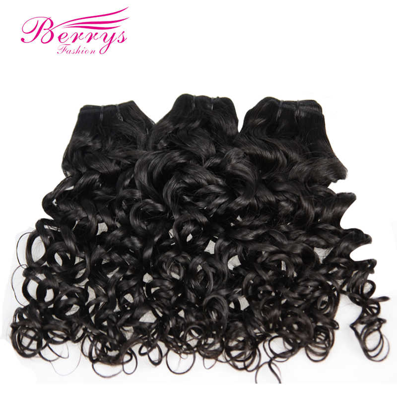 Berrys Fashion Peruvian Virgin Hair Water Wave Bundles Deals 3PCS/Lot 100% Unprocessed Human Hair Weft Natural Color 10-28 Inch