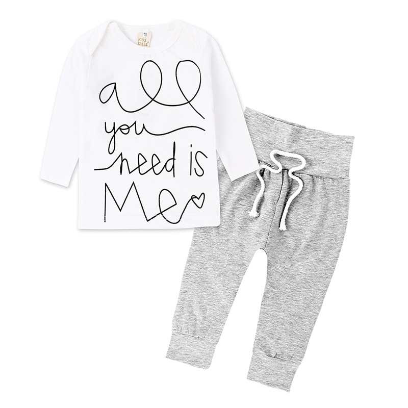 Baby Clothing Sets 2018 Spring Autumn Baby Boys girls Clothes Long Sleeve T-shirt+Pants 2Pcs Suits Children Clothing