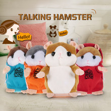 New Electronic Talking Hamster Repeats What You Say Cute Plush Mouse Hamster Interactive Speak Talking Sound Record Plush Toys(China)