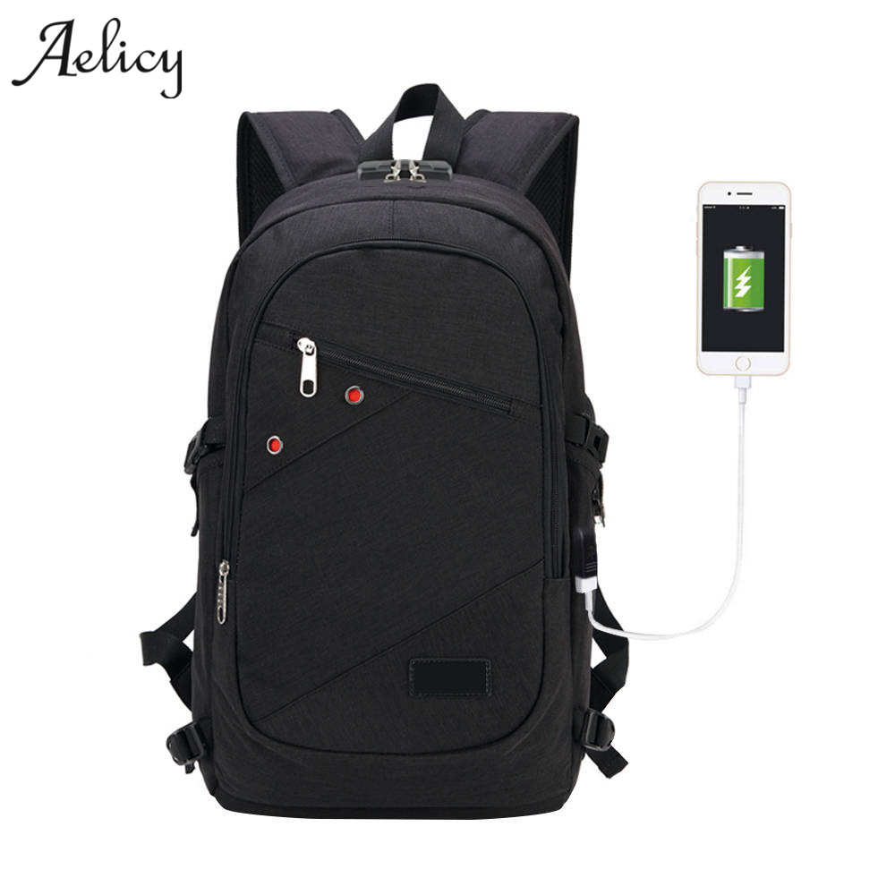 Aelicy Business Laptop Backpack with USB Charging Port and Lock Fits Under 17 Inch Laptop and Notebook Anti Theft Backpack s