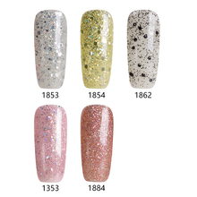 Modelones 5 Pcs/Lot Gorgeour Light Series Set Gel Soak Off UV Gel Polish 3D Diamond Glitter Nail Gel Varnish UV Lamp Gel Nail(China)