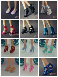 Image 4 - Wholesale doll shoes  nice Children  Girls Gift pullip Doll Accessories lot shoes Princess sexy casual For Barbie Doll
