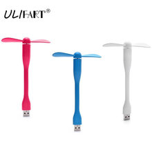 ULIFART Universal Flexible Mini USB Fan Portable USB Desk Fan Cooler Cooling Fan PC Fan For Power Bank Notebook Laptop Computer(China)