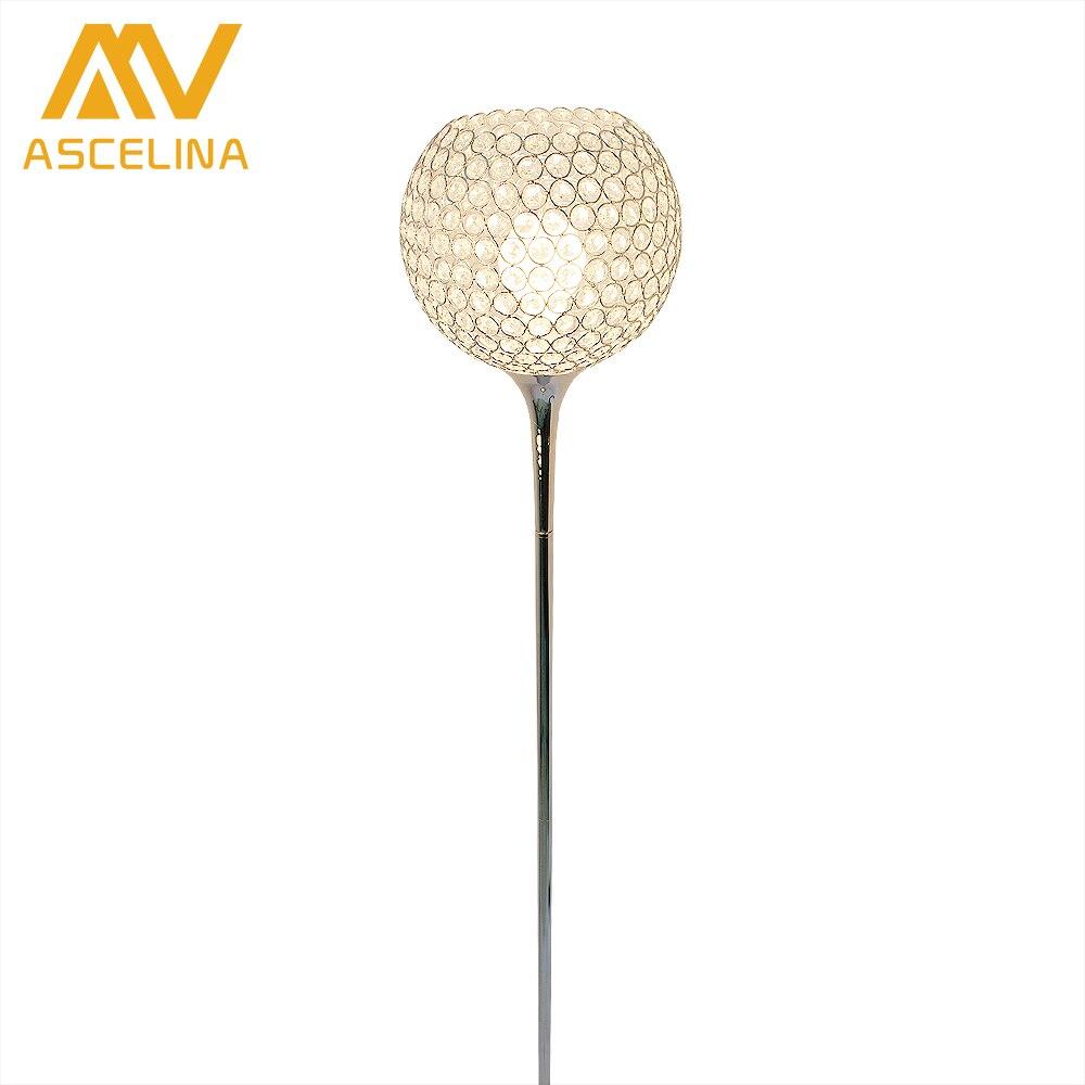 купить Crystal Floor Lamp Modern suppore LED E27 Sconce crystal light foyer lamps shade Home Decor Luminaire study room lighting home по цене 7132.26 рублей