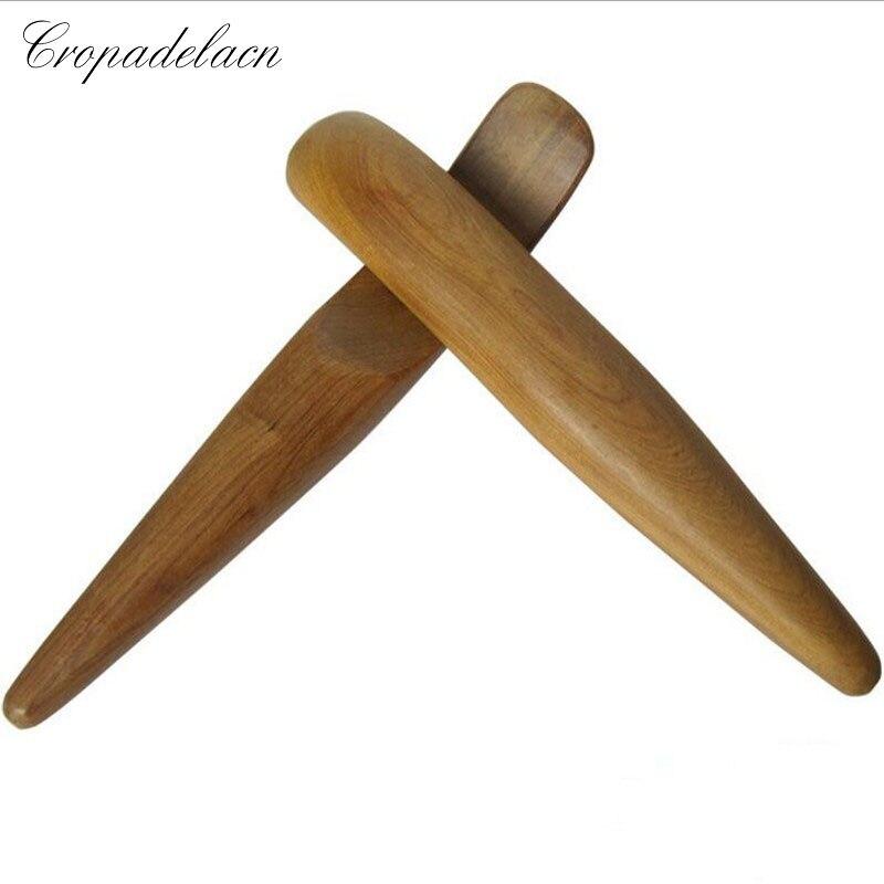 цена 2pcs Large Fragrant wood finger acupressure point massage stick acupuncture meridians scraping meridians lymphatic drainage онлайн в 2017 году