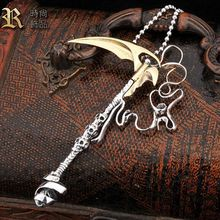 925 sterling silver Man necklace pendant  skull pendants mens vintage thai silver pendant