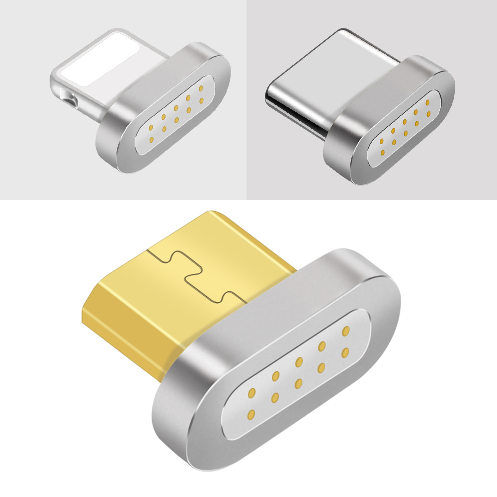 OLAF Magnetic Cable Plug Type C Micro USB Plug for Samsung LG for iphone X 8 fast Charging Phone Microusb Type-C Magnetic Plug