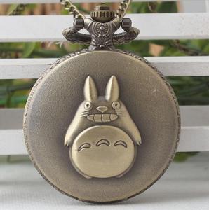 Бронзовое ожерелье с цифрами My neighten totoro и Pikachu, часы в подарок