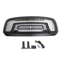 Areyourshop Car LED Grille ABS Honeycomb Bumper Grill Mesh Grille For Dodge Ram 1500 2013 2018 BLK Car Auto Styling Grille