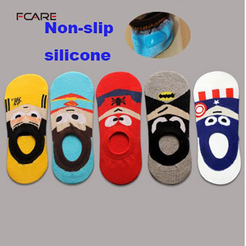 10PCS= 5 pairs cotton spring summer Cartoon Captain America mens  shallow mouth low no show superheros invisible funny socks