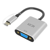ICZI Type C USB 3 1 Thunderbolt 3 Port Compatible To VGA Adapter 1080P Aluminum Body