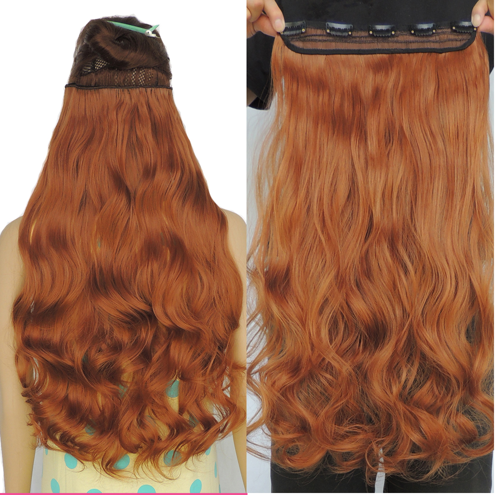 Copper hair extensions 5 clip in synthetic weave extension 24 inch copper hair extensions 5 clip in synthetic weave extension 24 inch curly wavy extensiones hairpiece color 30j on aliexpress alibaba group pmusecretfo Images