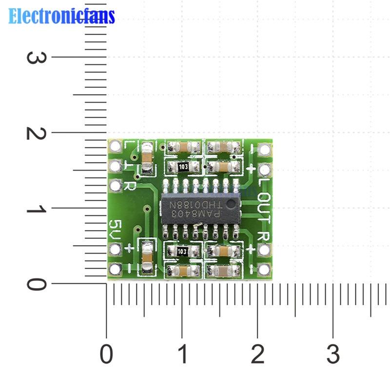 10Pcs 2x3W Dual Channel Mini Digital Power Amplifier Board PAM8403 For  Arduino Class D Stereo Audio Amplifier Module 5V Power